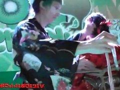 Crazy Rules, Iori y Anraro shibari fuck show on stage