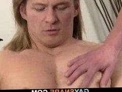 Guy sucks and rides horny gay dick