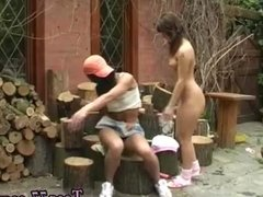 Public anal Cutting wood and tonguing pussy
