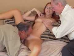 Please fuck me daddy and old young couples