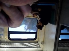 jerking off next to girl in train 2