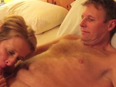 Fun on the ber for mature couple