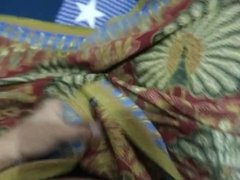 jerking and cum on mother in law lungi again