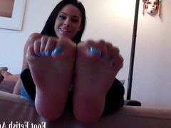 Blow a big load on my tiny size 5 feet
