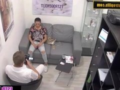 Estrogenolit Horny Russian babe strips and fucks her doctor