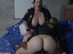 Sexy blonde big tits threesome Cheater