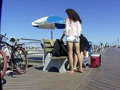 Not Mom Pushes Not Teen Daughter from Camera View