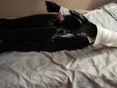 Latex Gloves Trans Cum After Being Fucked Hard