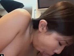 Asian beauty gives an amazing blowjob