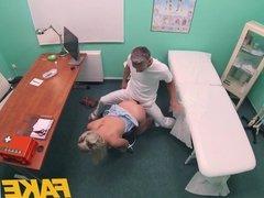 Fake Hospital Fast fucking gives blonde big tits Brit multip