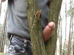 Tree helps him cum.flv