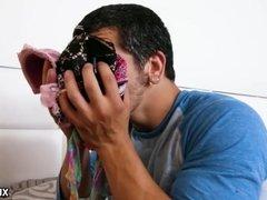 Panty sniffing stepbrother! - Megan Rain