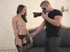 Lingerie model assfucked after shooting