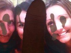 Triple cumshot facial for Car0lina