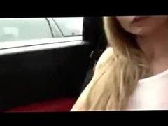 Blonde masturbates with toys in the car - telexporn