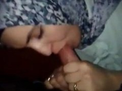 Hijab Blowjob and Swallow