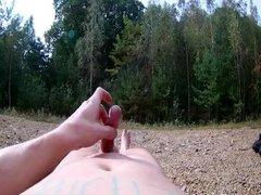 Cumming in the woods