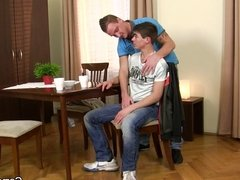 His first blowjob and gay sex