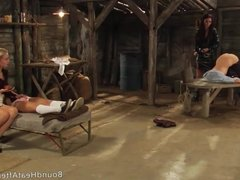 Mistress And Handmaiden: Lesbian 69 And Whip For Bad Slave