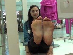 cute little feet at the mall
