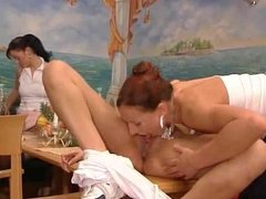 Hot german orgy in a restaurant