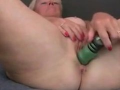 Grandma takes care of her orgasmic