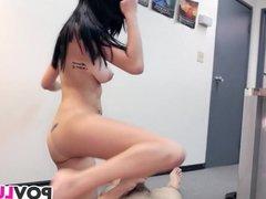 Skinny teen Mia Hurley gets rammed