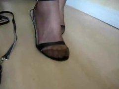 Mature leg and heels worship 2