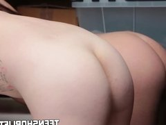 Teens Jojo Kiss and Rylee Renee get fucked as punishment