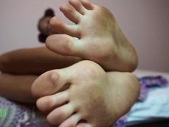 DIRTY FEET Foot Fetish FEMDOM Foot Dom EBONY SOLES Foot JOI