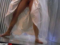 Kitten Wedding Dress Photo Shoot