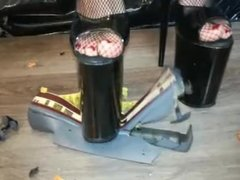 Extreme high heels crush train toy