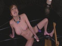 Gagged Akari Asagiri Has An Orgasm From A Vibrator