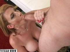 Redhead Step Mother Sara Jay In Stockings Wants  Young Cock