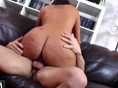 Passionate chick with a nice ass fucked