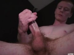Straight Dad milks a load from his huge cock HD