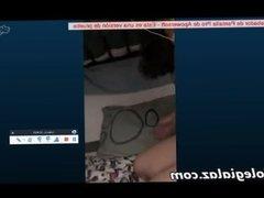 Hermosa putita mexicana se muestra por webcam uff Skype