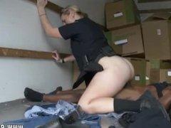Blacked teeny blonde handjob under table