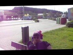 fat german woman masturbate outdoor