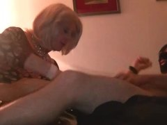 Mature CD Loves giving oral to younger cock