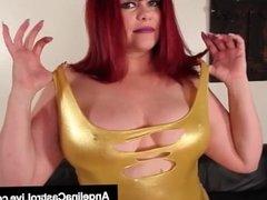BBW Latina Angelina Castro Rubs Cunt With 2 Very Big Girls!