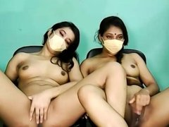 Indian lesbians playing with their pussies