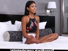 TeenyBlack - Hot Ebony Teen Tries Out For Porn