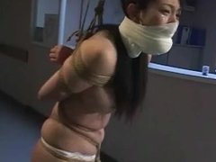 Asian whore Arimi Mizusaki is bound, gagged and whipped until she cries