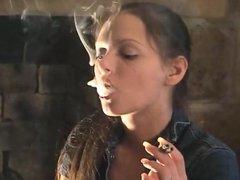 Lynn Smoking Cigarettes and Cigar