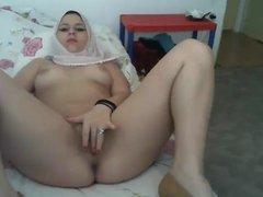 hijab playing with herself turbanli