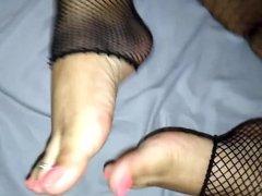 Foot worship,perfect toenails ,stockings ,cum...