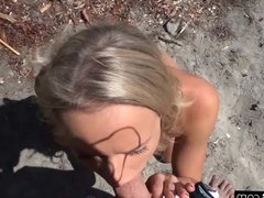 BANG Real Teens - BJ at the beach POV