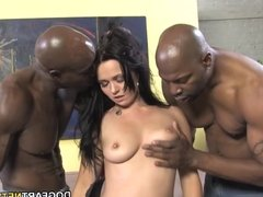 Ally Style Anal And Double Penetration With Black Dick