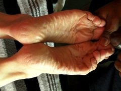 Two Cum-Loads on Dry Soles, Same Day!